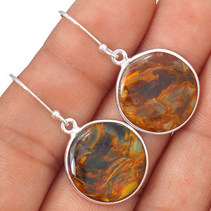 Pietersite 925 Sterling Silver Earrings Jewelry 64515