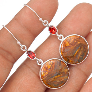 Pietersite 925 Sterling Silver Earrings Jewelry 64508