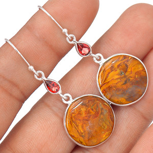 Pietersite 925 Sterling Silver Earrings Jewelry 64513