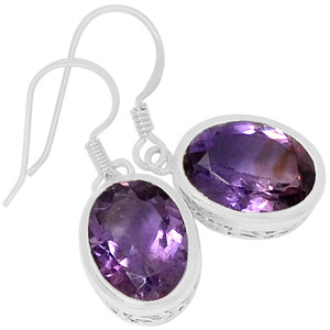 Amethyst 925 Sterling Silver Earrings Jewelry ER2107A