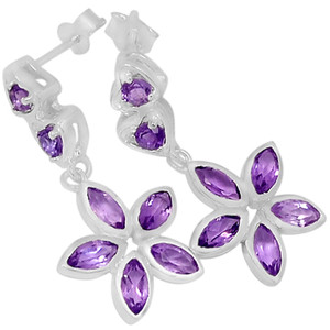 Amethyst 925 Sterling Silver Earrings Jewelry ER2199A