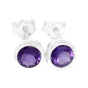 Amethyst 925 Sterling Silver Earrings Jewelry ER2347A