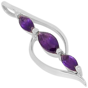 Amethyst 925 Sterling Silver Pendant Jewelry  N-P1391A