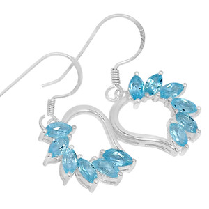 Blue Topaz 925 Sterling Silver Earrings Jewelry ER2202BT