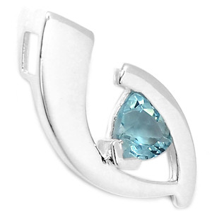 Blue Topaz 925 Sterling Silver Pendant Jewelry AAAP1271BT
