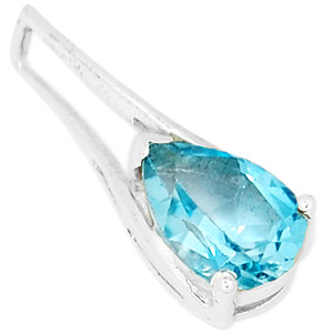 Blue Topaz 925 Sterling Silver Pendant Jewelry P1338BT
