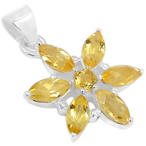 Citrine 925 Sterling Silver Pendant Jewelry AAAP1401C