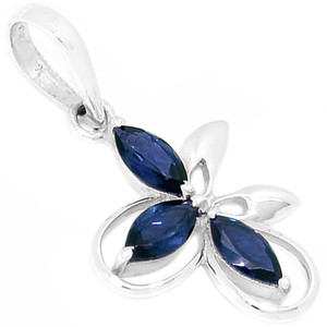 Iolite 925 Sterling Silver Pendant Jewelry AAAP1366I