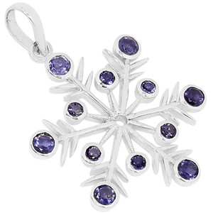 Iolite 925 Sterling Silver Pendant Jewelry AAAP1418I