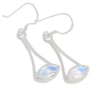 Rainbow Moonstone 925 Sterling Silver Earrings Jewelry ER2179RM