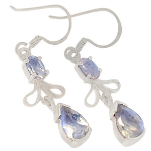 Rainbow Moonstone 925 Sterling Silver Earrings Jewelry ER2183RM
