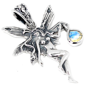 Rainbow Moonstone 925 Sterling Silver Pendant Jewelry AAAP1450RM