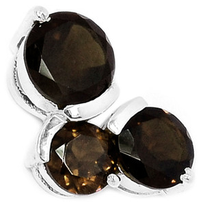 Smokey Quartz 925 Sterling Silver Pendant Jewelry AAAP1372ST