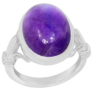 Amethyst 925 Sterling Silver Ring Jewelry s.7 R5095A-7