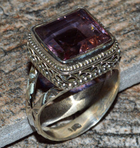 JJ8290 Colorchange Alexandrite (Lab.) 925 Silver Ring Jewelry s.8
