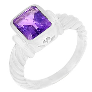 Amethyst 925 Sterling Silver Ring Jewelry s.6 R5048A-6
