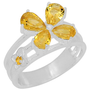 Citrine 925 Sterling Silver Ring Jewelry s.7 R5046C-7