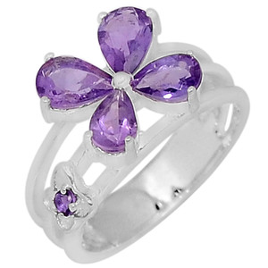 Amethyst 925 Sterling Silver Ring Jewelry s.7 R5046A-7
