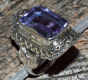 JJ8303 Colorchange Alexandrite (Lab.) 925 Silver Ring Jewelry s.7