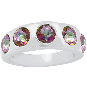 Rainbow Topaz 925 Sterling Silver Ring Jewelry s.7 R5139MY-7