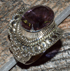 JJ8296 Colorchange Alexandrite (Lab.) 925 Silver Ring Jewelry s.6.5