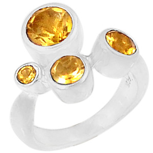 Citrine 925 Sterling Silver Ring Jewelry s.9 R5044C-9