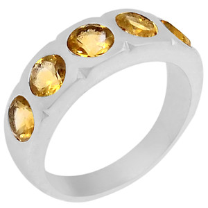Citrine 925 Sterling Silver Ring Jewelry s.8 R5139C-8