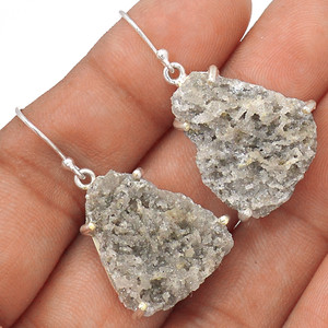 Smokey Quartz 925 Silver Earrings Jewelry EE71153