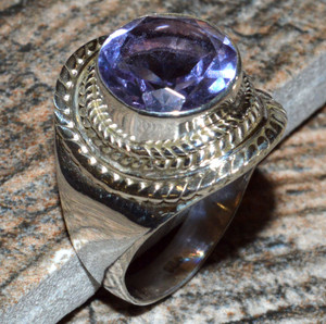 JJ8304 Colorchange Alexandrite (Lab.) 925 Silver Ring Jewelry s.6