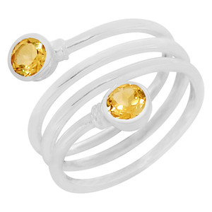 Citrine 925 Sterling Silver Ring Jewelry s.8 R5147C-8
