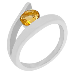Citrine 925 Sterling Silver Ring Jewelry s.7 R5140C-7