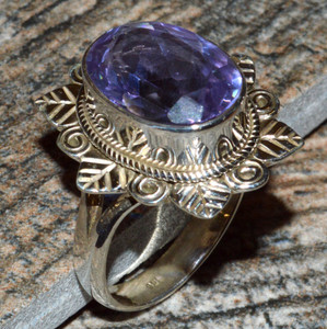 JJ8308 Colorchange Alexandrite (Lab.) 925 Silver Ring Jewelry s.7