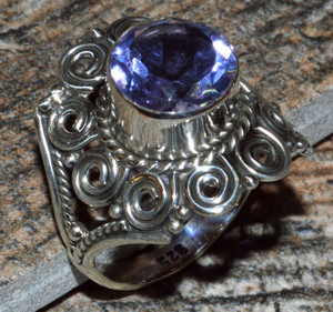 JJ8301 Colorchange Alexandrite (Lab.) 925 Silver Ring Jewelry s.8.5