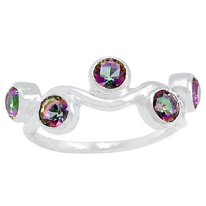 Rainbow Topaz 925 Sterling Silver Ring Jewelry s.6 R5127MY-6