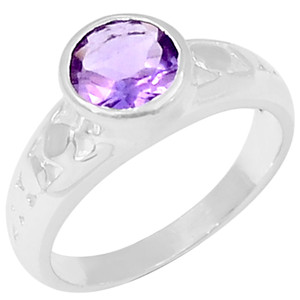 Amethyst 925 Sterling Silver Ring Jewelry s.6 R5022A-6