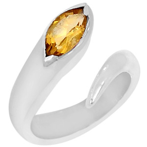 Citrine 925 Sterling Silver Ring Jewelry s.7 R5116C-7