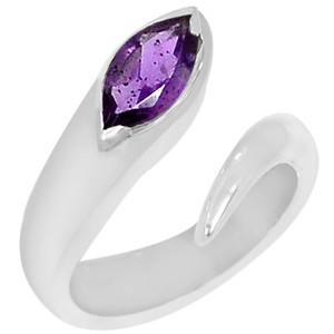 Amethyst 925 Sterling Silver Ring Jewelry s.7 R5116A-7