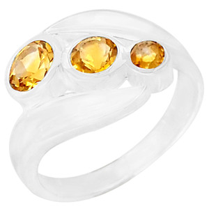 Citrine 925 Sterling Silver Ring Jewelry s.7 R5064C-7