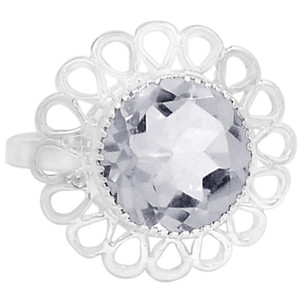 Crystal 925 Sterling Silver Ring Jewelry s.6 R5273WT-6