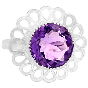 Amethyst 925 Sterling Silver Ring Jewelry s.9 R5273A-9