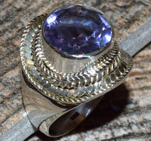 JJ8302 Colorchange Alexandrite (Lab.) 925 Silver Ring Jewelry s.6