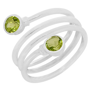 Peridot 925 Sterling Silver Ring Jewelry s.9 R5147P-9