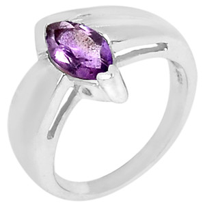 Amethyst 925 Sterling Silver Ring Jewelry s.6 R5172A-6