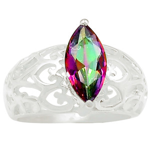 Rainbow Topaz 925 Sterling Silver Ring Jewelry s.7 R5151MY-7