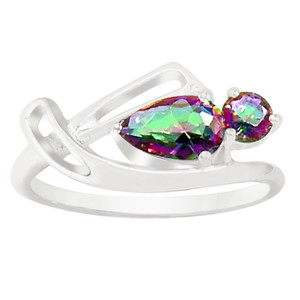 Rainbow Topaz 925 Sterling Silver Ring Jewelry s.7 R5176MY-7