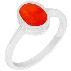 Carnelian 925 Sterling Silver Ring Jewelry s.6 R5165CRF-6