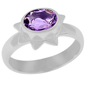 Amethyst 925 Sterling Silver Ring Jewelry s.7 R5149A-7