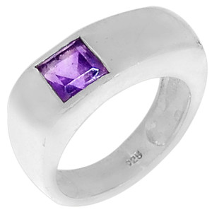 Amethyst 925 Sterling Silver Ring Jewelry s.7 R5186A-7