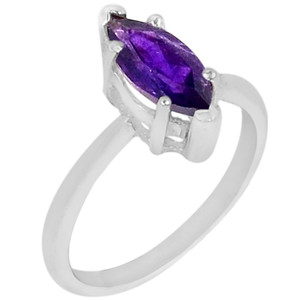 Amethyst 925 Sterling Silver Ring Jewelry s.6 R5181A-6 R5181A-6