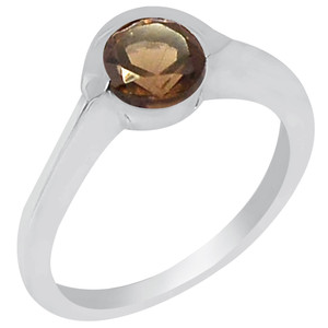 Smokey Quartz 925 Sterling Silver Ring Jewelry s.7 R5159S-7